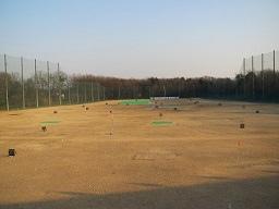 つくばゴルフスクール筑西の本拠地、下館スポーツヴィラの打席からの風景